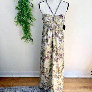 Jack by BB Dakota Floral Halter Maxi Dress Small